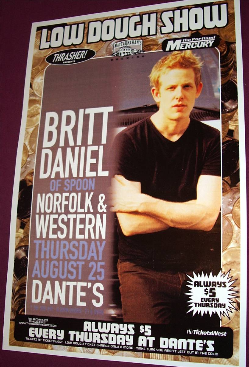 Britt Daniel Of Spoon Poster