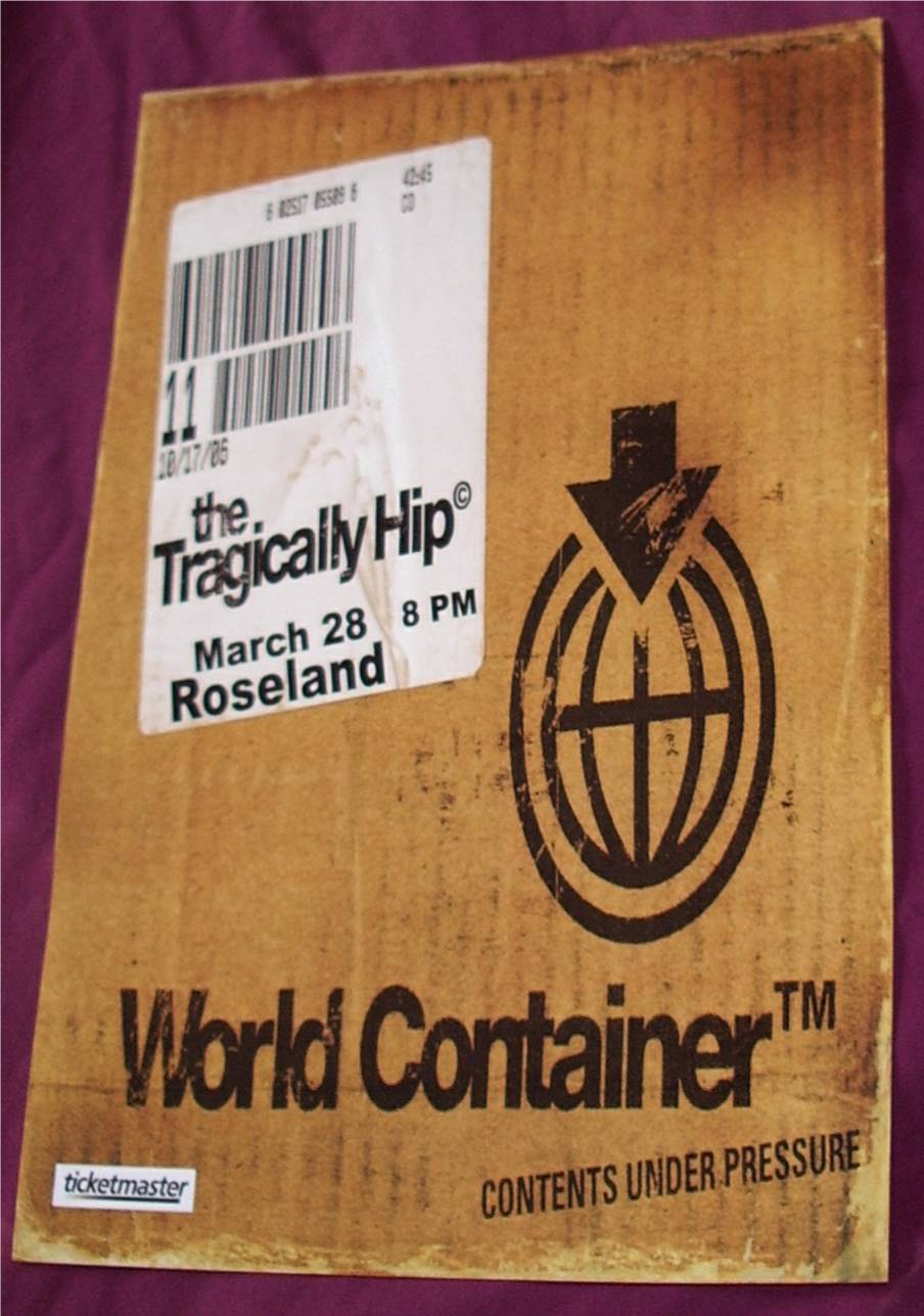 Tragically Hip World Container Poster